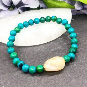 Jewelry - Chrysocolla and agate bracelet